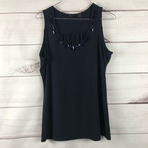 The Limited Sleeveless Embellished Top